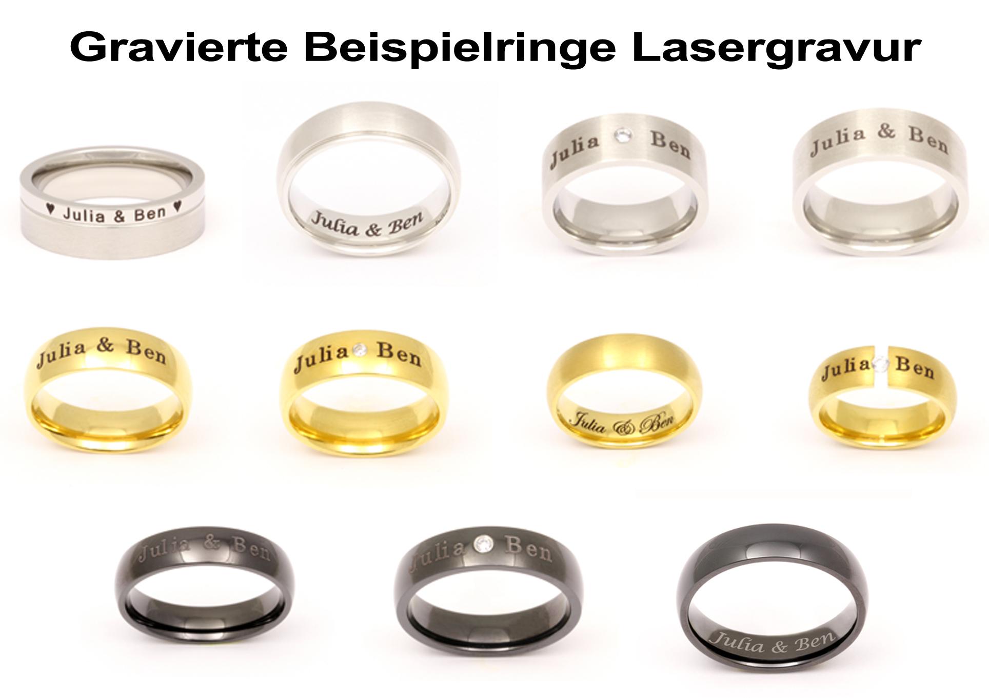 Unisex Ehering Trauring aus Silber inkl Lasergravur LAS36H